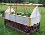 raised garden bed with a greenhouse cover can help you extend your