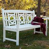 ... Painted Wood Garden Bench - White - Outdoor Benches at All Outdoor