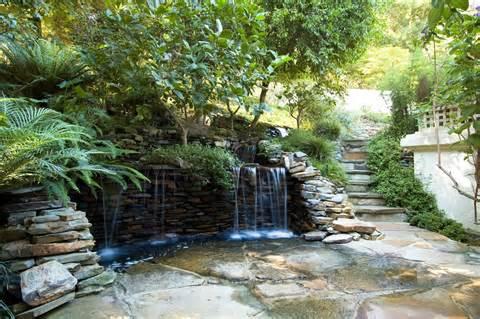 cool ideas for garden waterfall