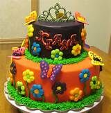 Princess garden birthday cake | My Cake Designs | Pinterest