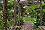 Rustic Arbor in Spring - Traditional - Landscape - chicago - by Craig ...