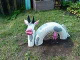 reuse tire coloured project repurposed pink latex glove garden ideas