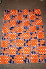 University of Illinois Rag Quilt on Etsy, $50.00