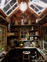 Inside of cute shed | Gardening Ideas & Backyard Wonders | Pinterest