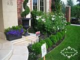 small flower gardens in front of house home exterior design ideas