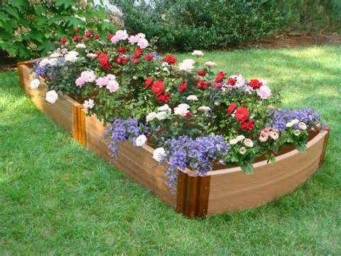 raised flower bed gardening pinterest
