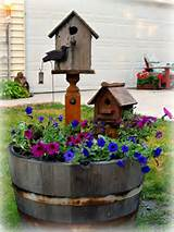Barrel Planter on Pinterest | Barrel Planter, Wine Barrel Planter ...