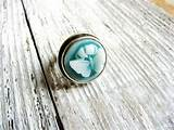 Ring Teal Blue Nature Inspired Jewelry Gardener Naturalist Gift Ideas ...