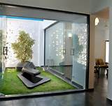 taman minimalis belakang rumah berbatasan dengan ruang makan