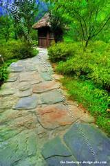 Slate Garden Path Design Idea