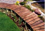 ... ideas for walkways and garden paths Garden path made with wood Curvy