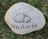 Personalized Cat Memorial Stone Engraved Rock by mainlinedesigns