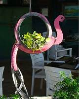 recycling ideas creative hanging repurposed tire decoration pink cute ...