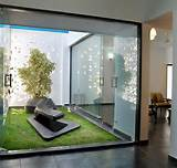 ... for Fresh Indoor Plant Glass Door Modern Home Garden Design Ideas