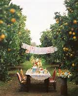 wedding reception ideas intimate outdoor wedding