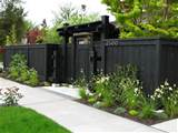 front yard fence privacy fence dark fence stock hill landscapes inc