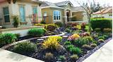 of some colorful and stunning ideas of front garden without grass