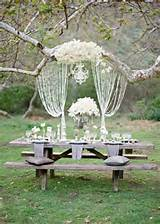 outdoor elegant wedding