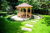 small garden gazebo with pathways green garden in backyard : OLPOS ...