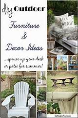 DIY Outdoor Furniture and Decor Ideas - Setting for Four