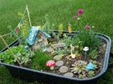 old container to create the fairy garden it can be as big or as small