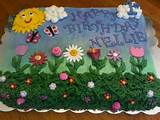 flower garden birthday cake cake by tammy cakesdecor