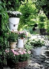 shabby chic garden design gardening gardens pinterest