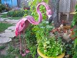Tire recycling ideas old unwanted tires pink dig flamingo art garden ...
