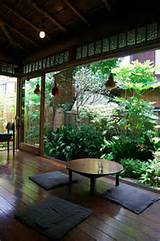 Japanese garden patio landscape ideas Zen garden ideas round coffee ...