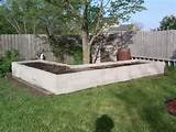 Raised bed made from concrete block. Read comments on website for ...