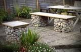 garden benches and outdoor furniture, modern backyard ideas