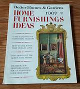 magazine better homes and gardens home furnishing ideas for 1967
