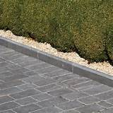 natural paving limestone midnight roundtop edging