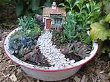 dish garden | dish and fairy gardens | Pinterest