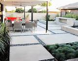 diy patio design ideas concrete slab and pebble outdoor modern style