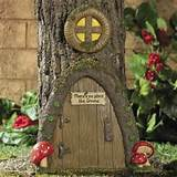 1001 Gardens > Products > Garden Gnome Home Door in a Tree Art Pieces ...