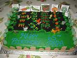 cake images with a garden vegetable garden cake
