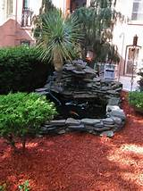 Mulch Garden Red mulch like sands in the