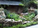 make stone wall in the garden creative exterior architecture