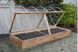 raised planter box with hoop house smallutions