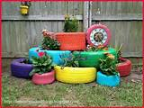 tire garden so cute decorating ideas pinterest