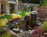 landscaping ideas garden water features rocks fountain natural stone