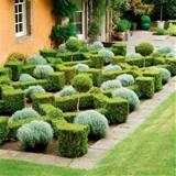 box parterre garden box planting formal garden design idea image