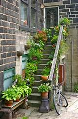 stairs with flowers - do this to my front steps every summer...tons of ...