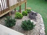 lightsonthelake rock garden around deck done