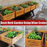DIY Ideas For Making A Deck Herb Garden Using Wine Crates | DIY Home ...