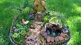 Fairy garden with pond and waterfall miniature - YouTube
