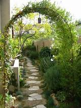 after photo the long narrow walkway is complete the gardens include