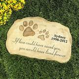 Personalized Pet Memorial Stone Garden Monument Cemetery Grave Dog Cat ...