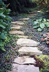 32 Natural And Creative Stone Garden Path Ideas - Gardenoholic